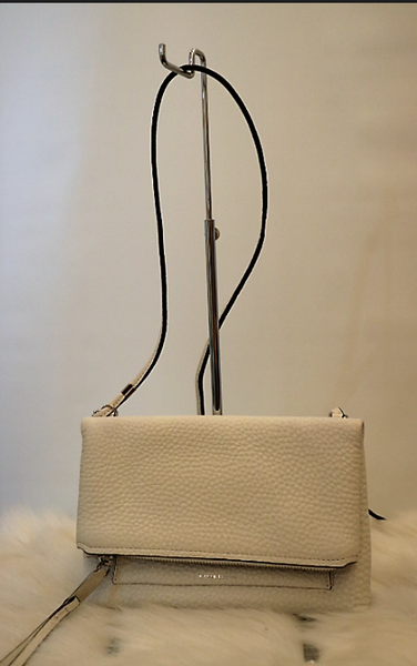 White Top Flap Crossbody Bag