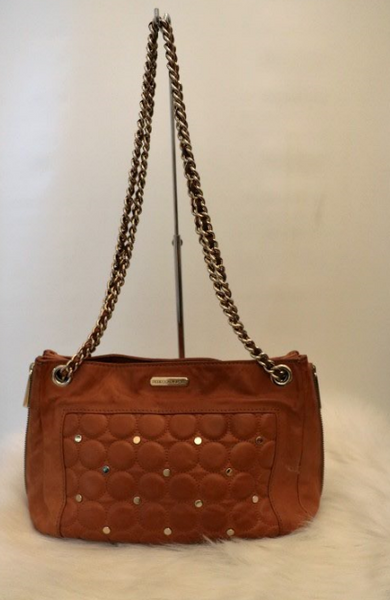 Brown Leather Boho Crossbody Bag