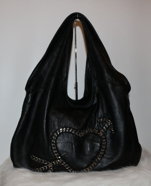 Black Heart Stitch Tote