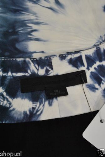 Alexander Wang Scoop Neck Tie Dye Leather Tank Top