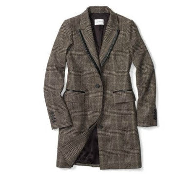 Club Monaco Plaid Coat