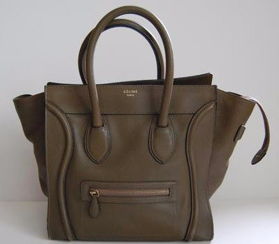 Celine Army Green Tote