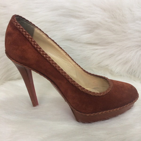 Suede Rust Coloured Louboutin