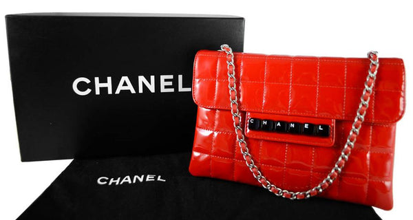 Chanel Red Square Bar Keyboard Bag