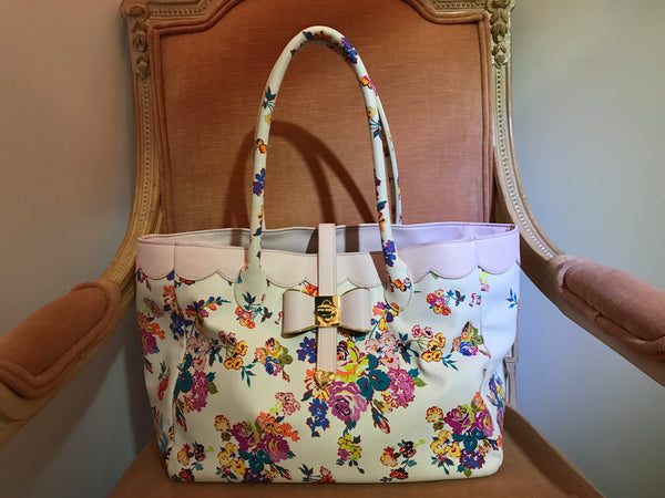 Floral Bow Tote