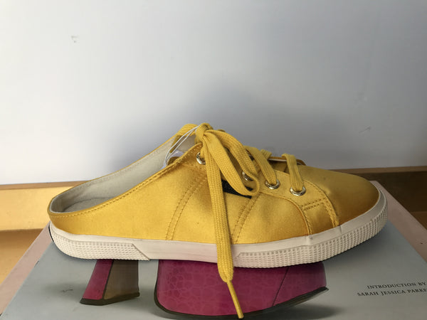 Yellow Man Repeller Slip Ons