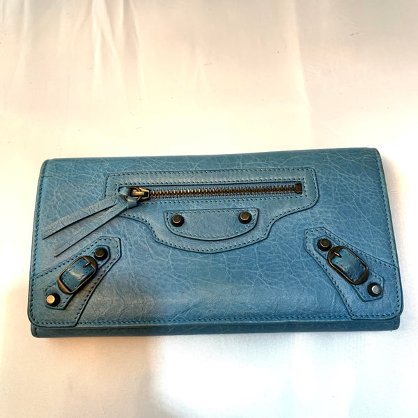 Balenciaga Blue Wallet
