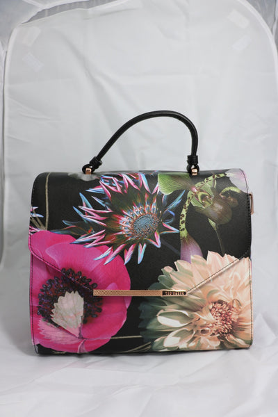 Black Floral Ted Baker Handbag