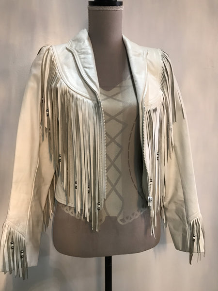 White Leather Ranch Jacket