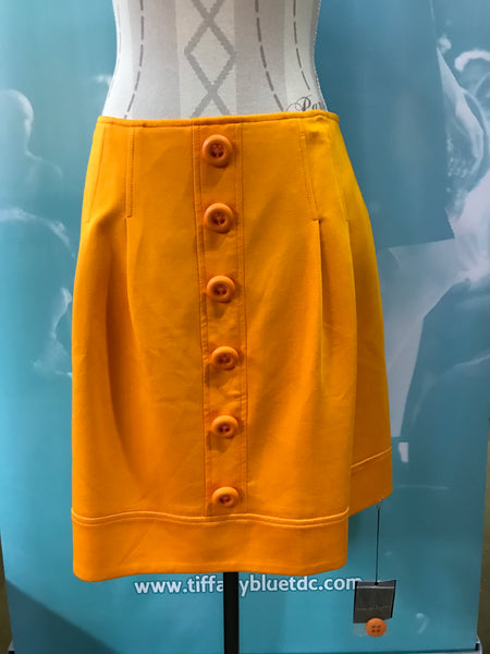 Orange Button Skirt