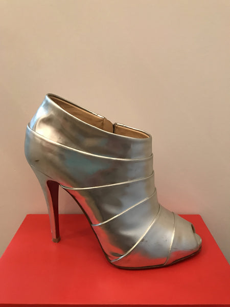 Louboutin Silver Booties