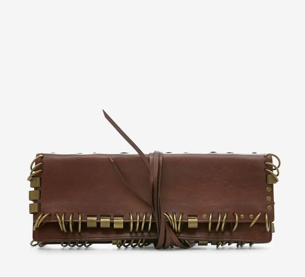 YSL Brown Rive Clutch