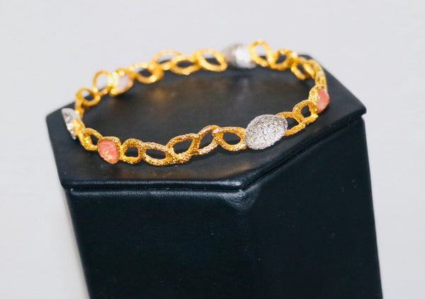 Alexis Bittar Gold and Amber Stone Bangle
