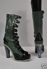 Rodarte Embrossed Crocodile Lace Up Boot