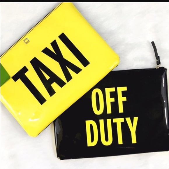 Taxi OFF DUTY Kate Spade Clutch