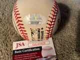 PETE ROSE MOELER SIGNED ON BILLL WHITE VINTAGE N. L.. BASEBALL with JSA COA Spots