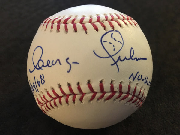 GEORGE CULVER Show Signed & Inscribed MLB Ball