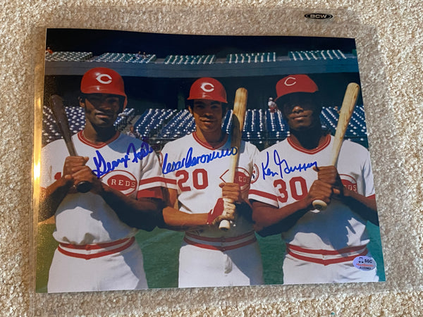 BRM OUTFIELD Signed 8x10 GERONIMO FOSTER GRIFFEY SGC COA