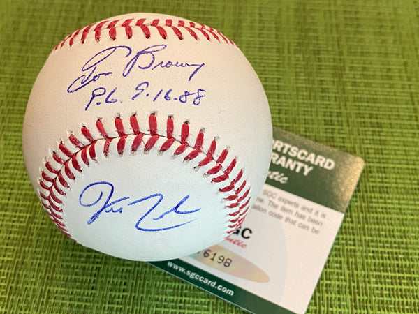 BROWNING & REED Signed Inscribed Major League Baseball SGC COA