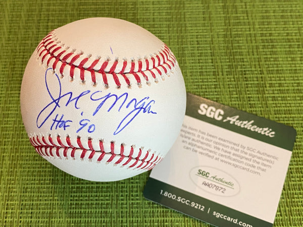 JOE MORGAN Signed Inscribed Major League Baseball SGC COA