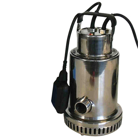 Submersible stainless steel pump up to 250 litres/min, Hmax 10 m