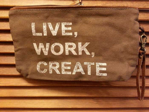 Live, Work, Create Clutch