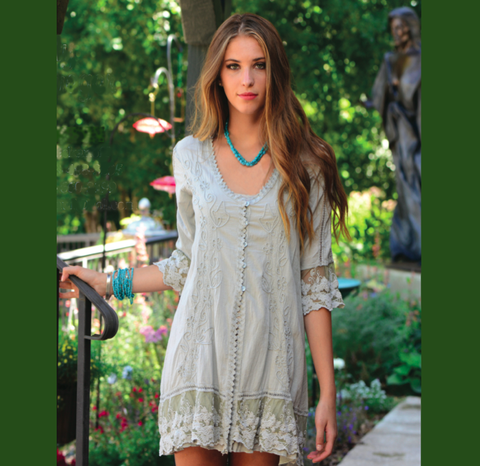Button-down tunic/duster by Gretty Zueger