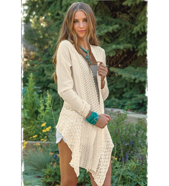 Long Sleeved Embroidered Cardigan