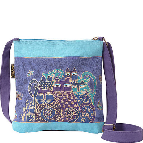 Laurel Burch Indigo Cats Crossbody Tote