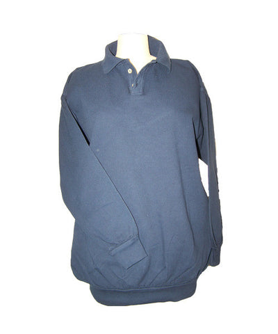 Long Sleeve Polo Canton Fleece Pullover