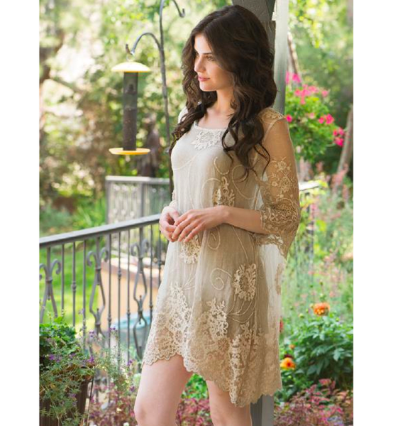 Embroidered Silk Tunic/Dress