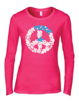 Peace Bird Womens Long Sleeve Tee