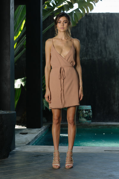ICON WRAP DRESS - DUSKY BLUSH