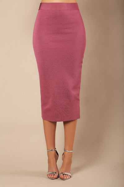 Mid Leg Knit Bandage Skirt - Candles Fashion House