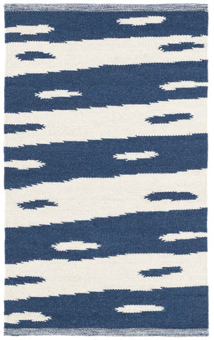 Rug Briar Blue Woven Wool Rug 8 X 10 ft (2.4 x 3m)