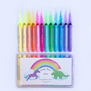 Magic Waxi™ Neon Gel Crayons (12 Pack) **PRE-ORDER (Back in stock early April)**