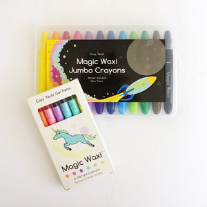 Magic Waxi™ Neon Mini Pack & Jumbo Gel Crayon Combo - Lunables