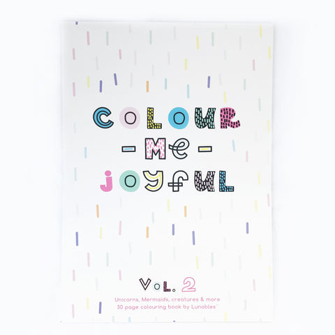 Colour Me Joyful (Volume 2) - A3 Colouring Book - 30 Pages - Lunables