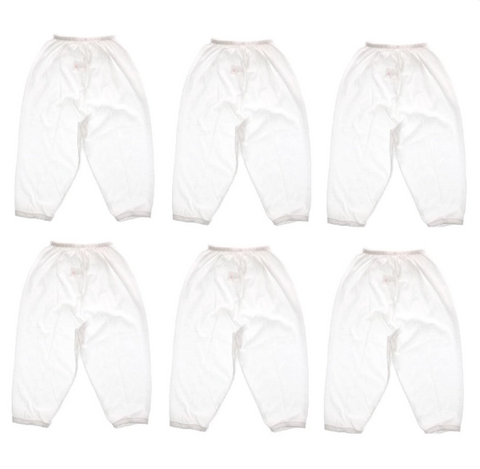 Plain White Pajamas (set of 6s)