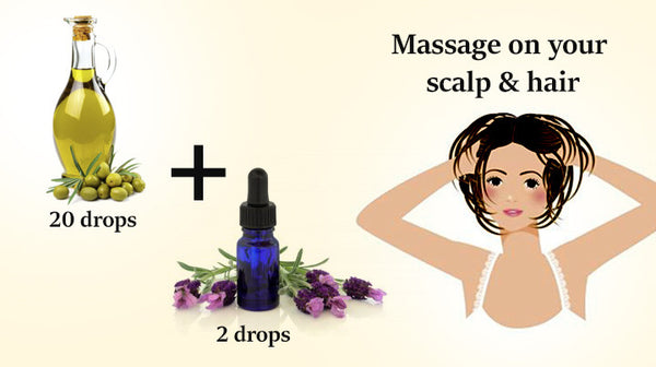 lavender essential oil in hair care
