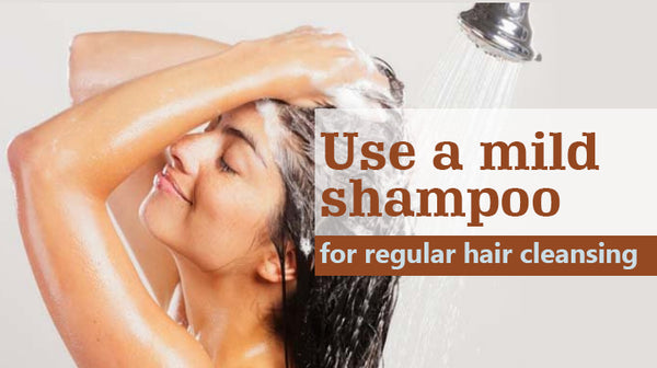 use proper shampoo for hair health