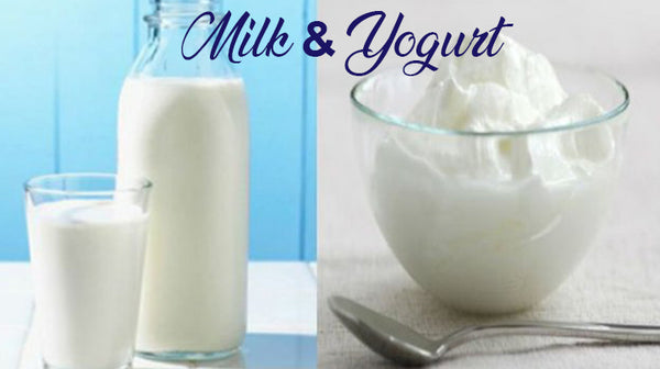 milk and yogurt for hair