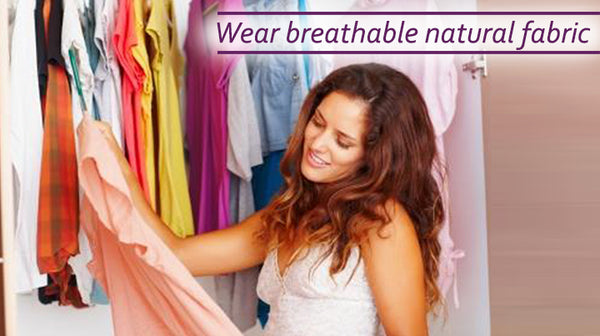 breathable natural fabric can reduce sweating