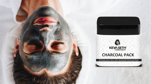 charcoal pack for skin care in winter