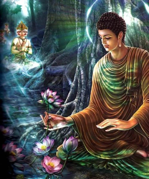 Buddha and aromatherapy