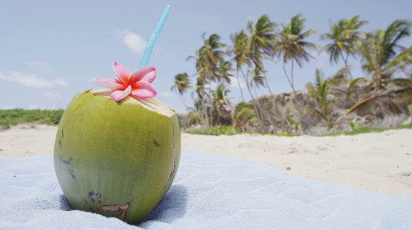 green coconut water for skin