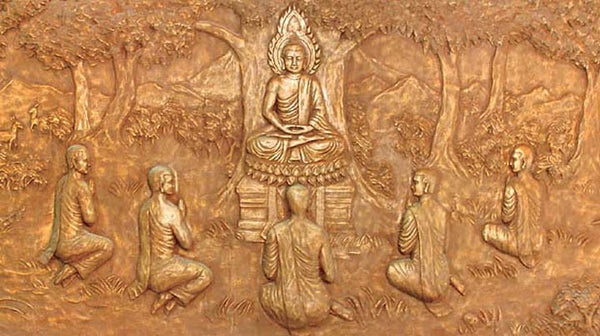 Buddha teaching disciples
