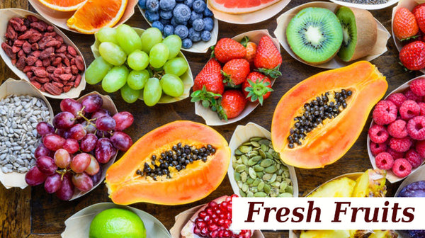 fresh fruits for wedding diet