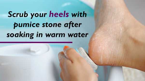 remove dead cells from heels