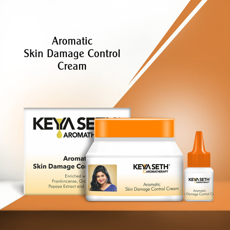 Enriched with Frankincense and Payapa Extract, Skin Damage Control Cream controls & repairs skin damage